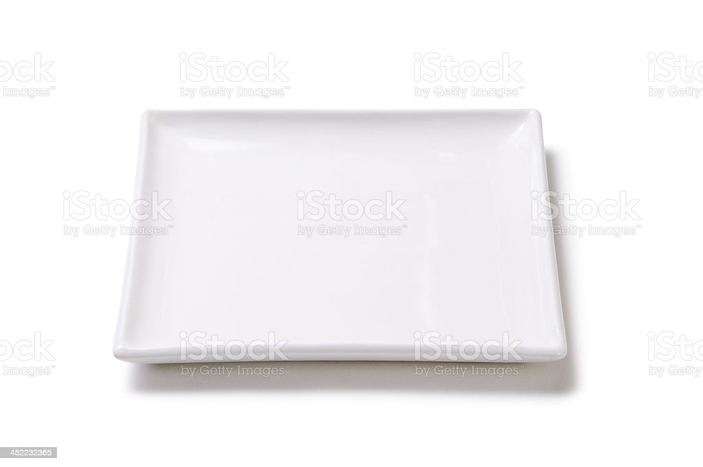 White empty plate of earthenware royalty-free stock photo