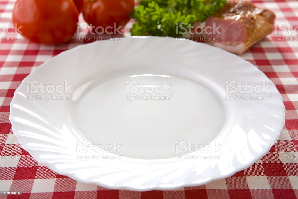 white empty plate royalty-free stock photo