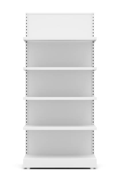 Tablettes des détaillants vide blanc - Photo
