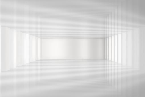 istock 3D White Empty Room Interior 1134514746