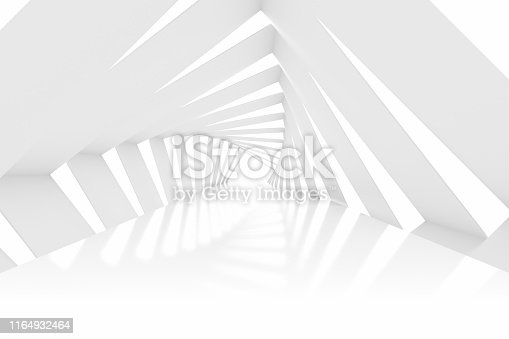 470731180istockphoto 3D White Empty Room, Tunnel, Corridor  Interior 1164932464