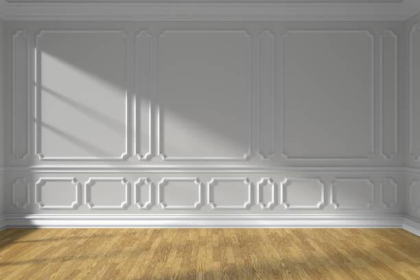 vita tomt rum med formblåsning och parkettgolv - solar panel bildbanksfoton och bilder