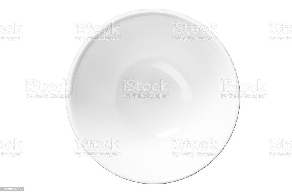 White empty saucer stock photo