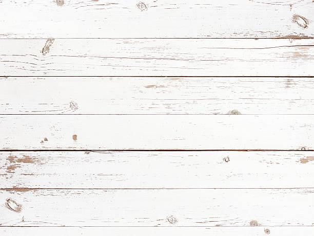 Weiße leere hölzernen Hintergrund – Foto