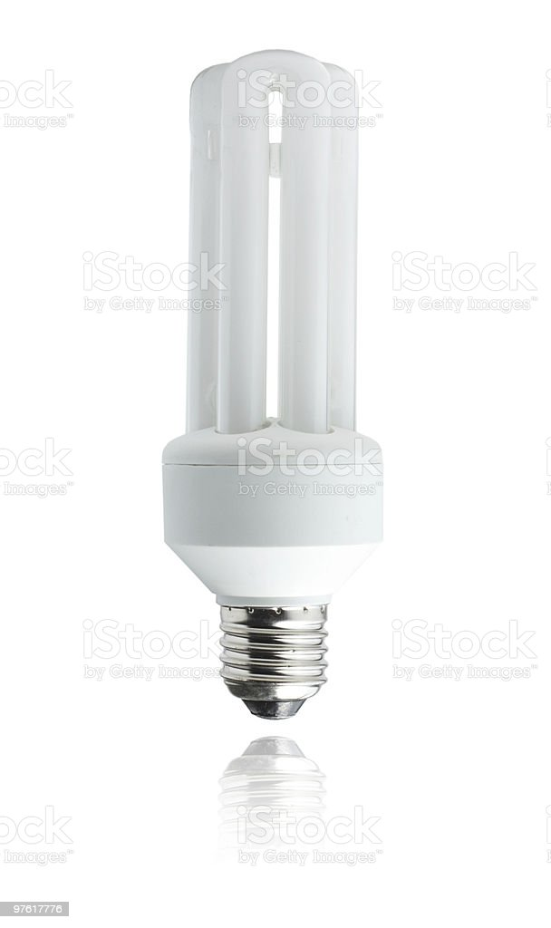White energy saver bulb royalty-free stock photo