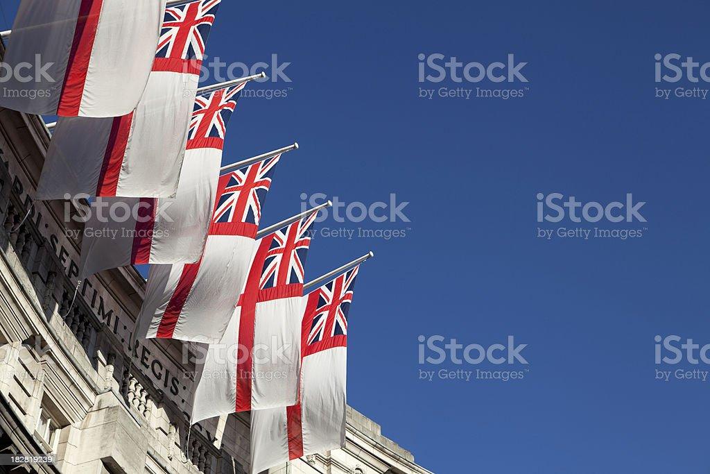 White Ensign Union Jack- Admiralty Arch (XXXL) stock photo