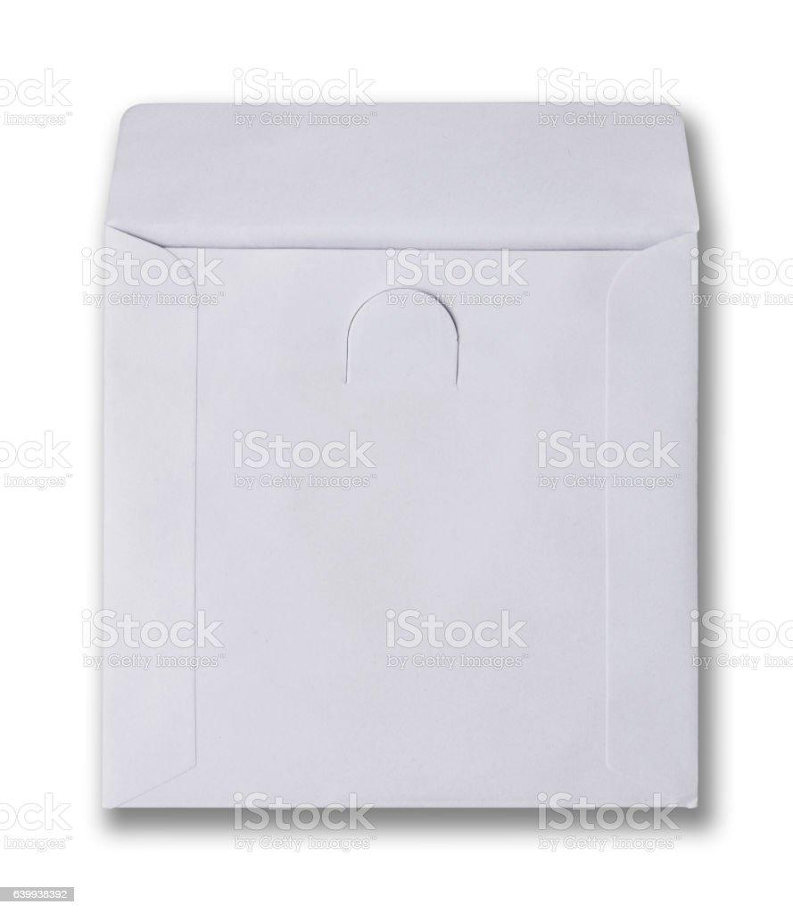 White envelope for cd disk stock photo