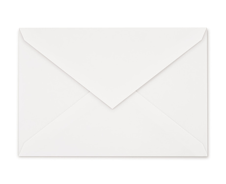 Simple Perfect White Envelope isolated on white (excluding the shadow)