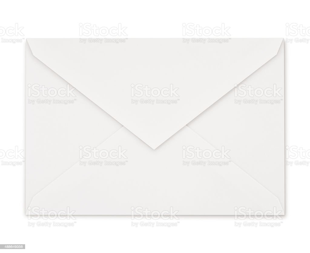 White Envelope (with path) stock photo