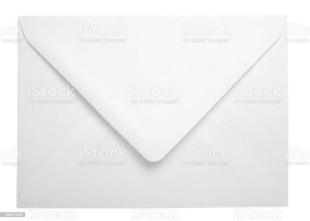 white envelope post delivery stock photo