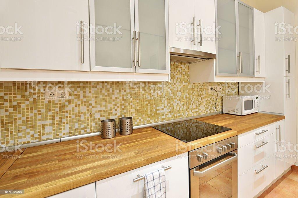 White European style kitchen royalty-free stock photo