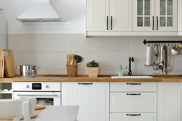 White European style kitchen stock photo