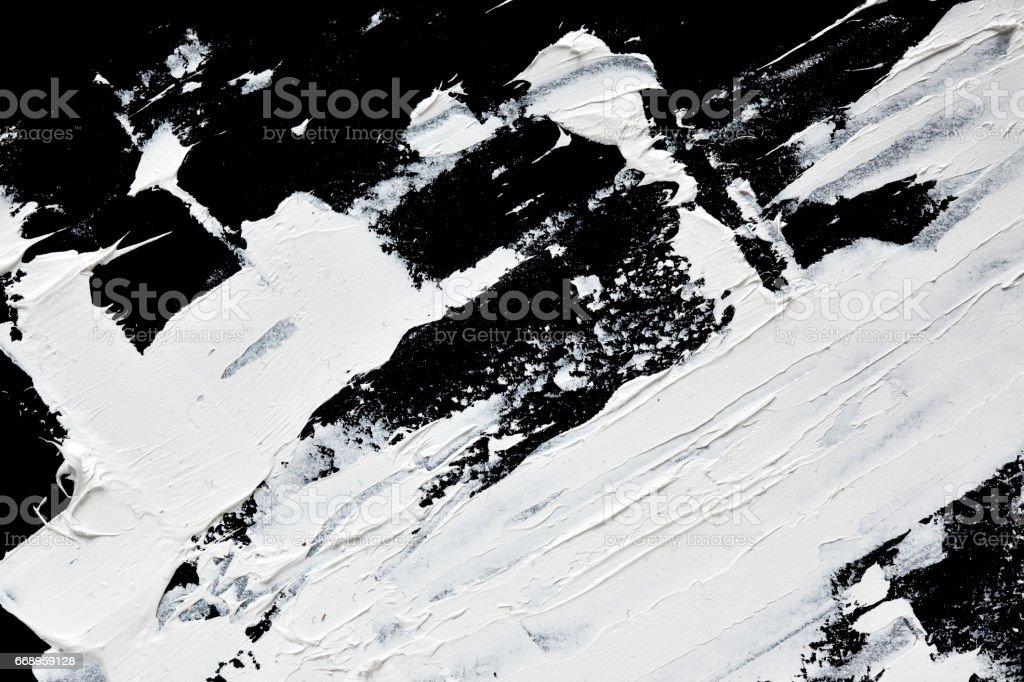 White expressive brush strokes stock photo