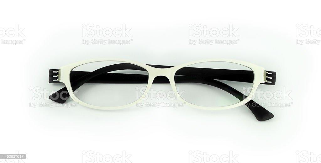 white eyeglasses royalty-free stock photo