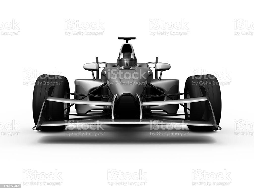 3D white F1 race Car royalty-free stock photo