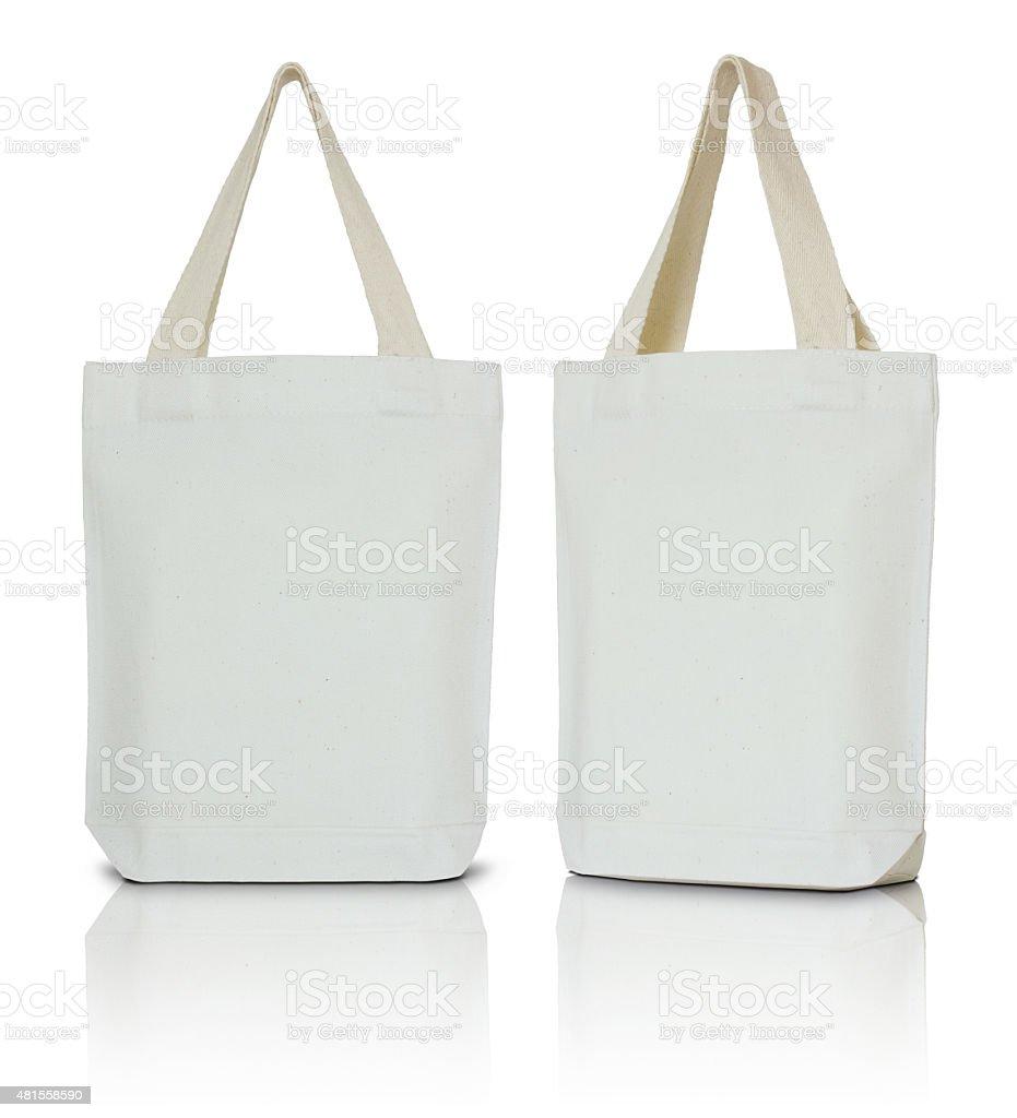 Bolsa de tela blanca - foto de stock