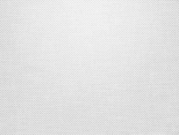 white fabric canvas texture background for design blackdrop or overlay background - grid pattern stock photos and pictures