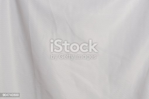 istock white fabric jersey sports texture material background 904740300