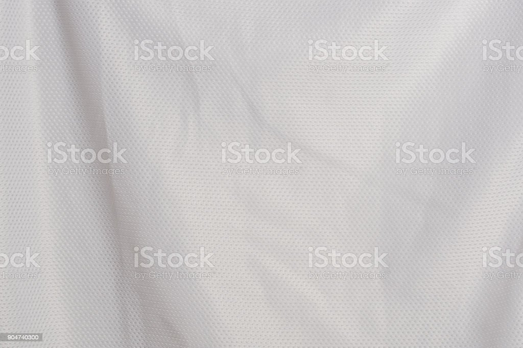 white fabric jersey sports texture material background stock photo