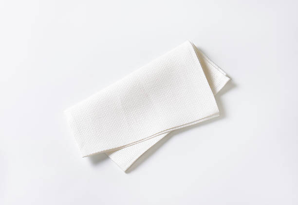 white fabric napkin - servett bildbanksfoton och bilder