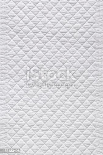 White quilted fabric