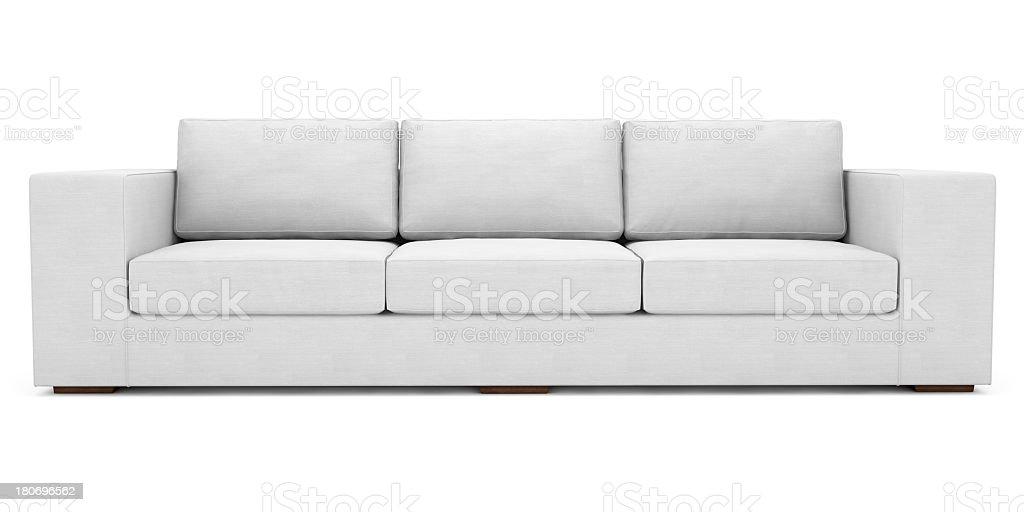 Weiße Stoff Sofa mit Clipping Path – Foto