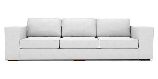 weiße stoff sofa mit clipping path - kanapee stock-fotos und bilder
