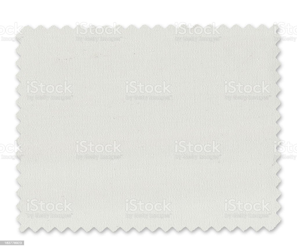 White Fabric Swatch stock photo