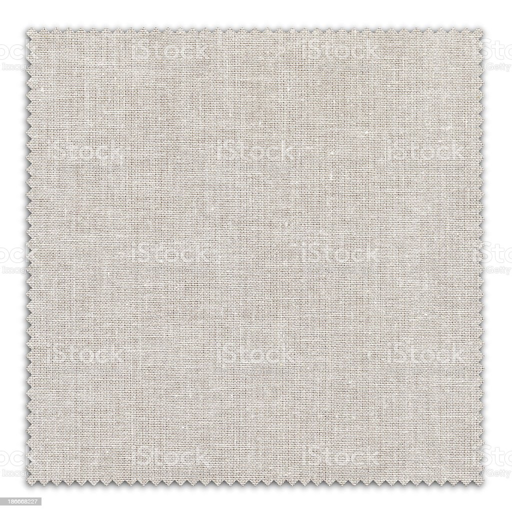 White Fabric Swatch (Clipping Path) royalty-free stock photo