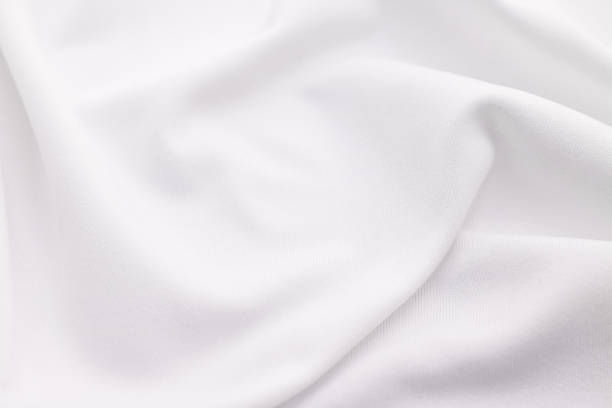 white fabric texture background. abstract cloth material. - textile stock photos and pictures