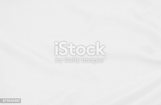 istock White fabric texture for background and design, beautiful pattern of silk or linen. 875540492