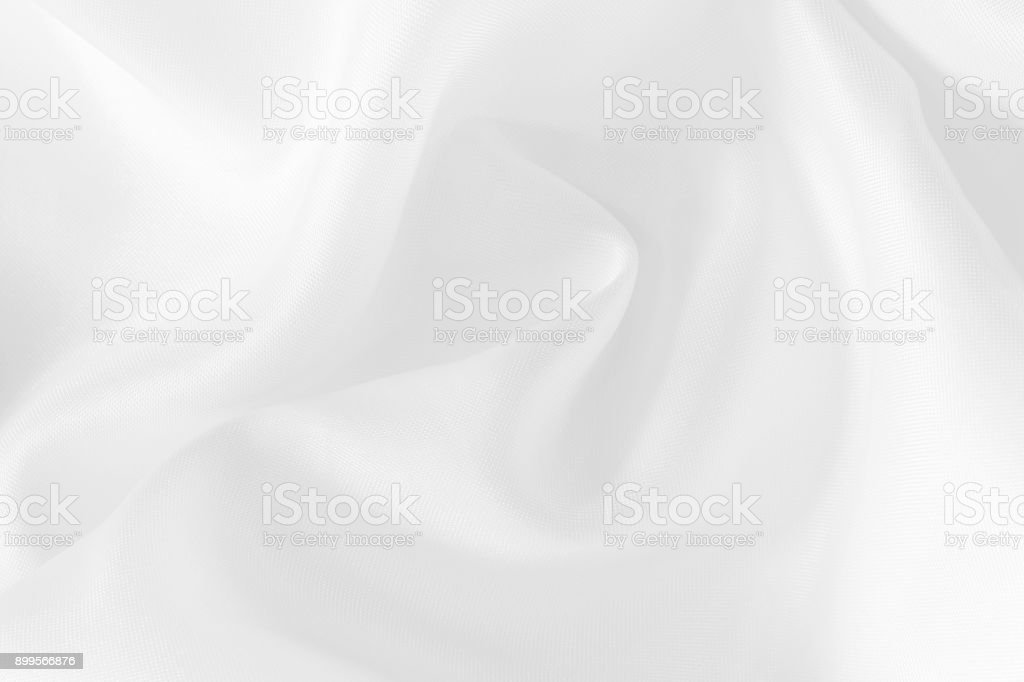 White fabric texture for background and design, beautiful pattern of silk or linen. stock photo