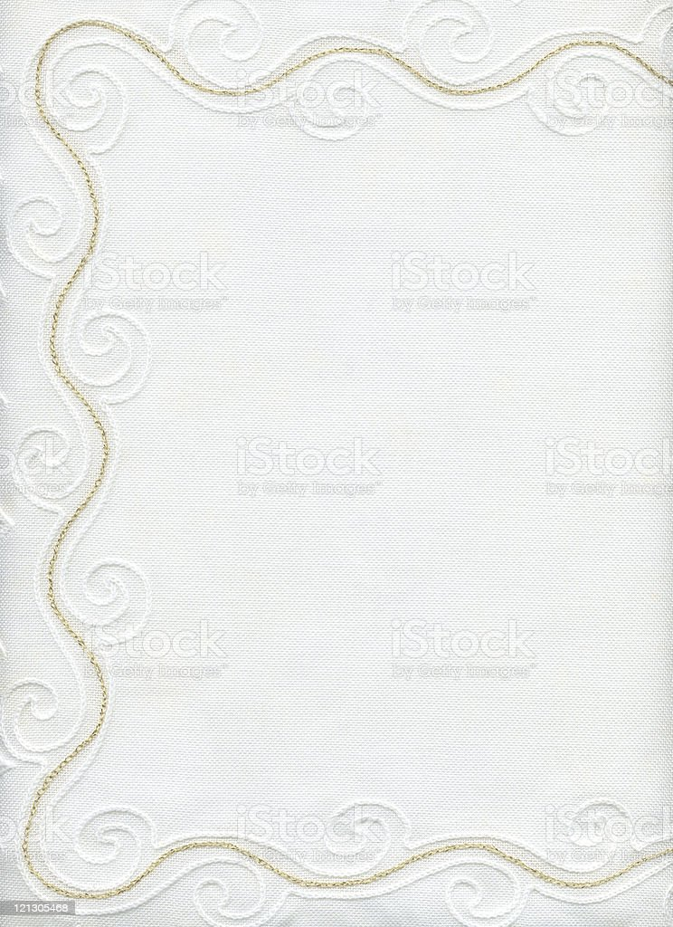 white fabric with golden border royalty-free stock photo