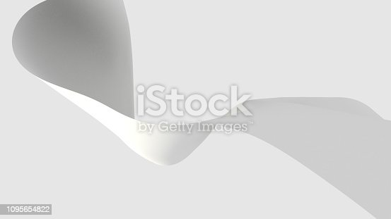 istock white fabrics floating in the air 1095654822