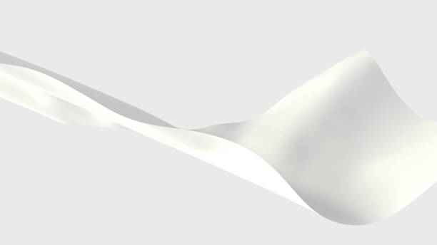 white fabrics floating in the air 3d illustration floating fabric stock pictures, royalty-free photos & images