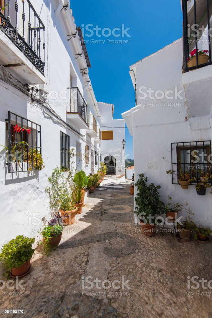 White facades in Frigiliana village, Andalusia,Spain photo libre de droits