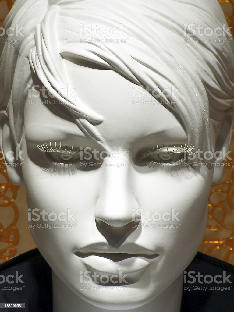 White faced lady albino dummy royalty-free stock photo