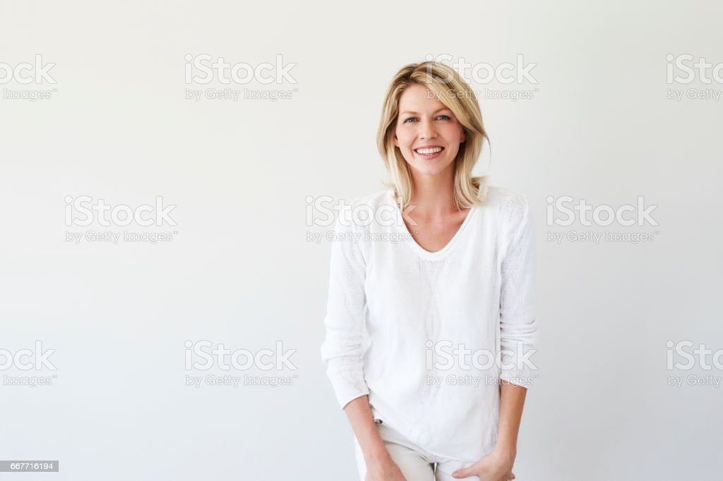 White fashion blond stock photo