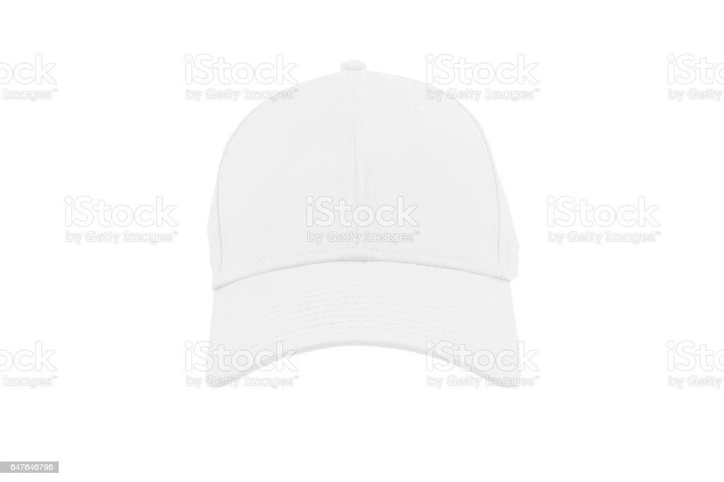 White fashion cap isolated stock photo