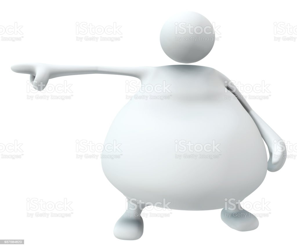 white fat figure pointing stock photo more pictures of anxiety