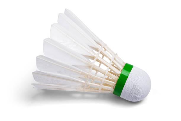 White Feather Shuttlecocks Badminton stock photo