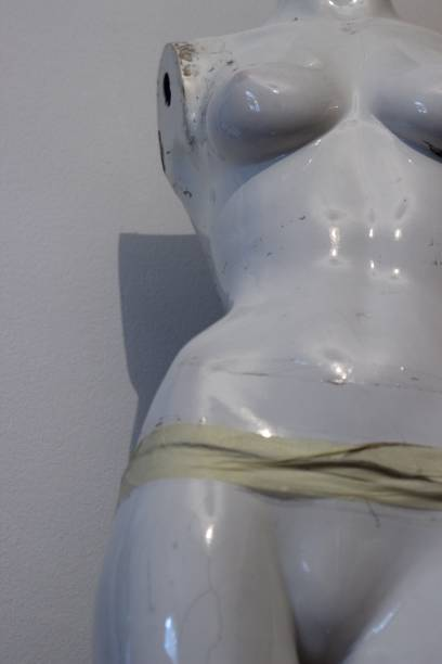 White Female broken Mannequin stock photo