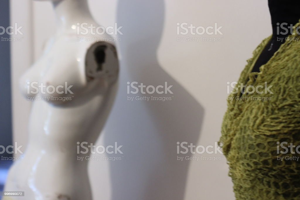 White Female broken Mannequin stock photo