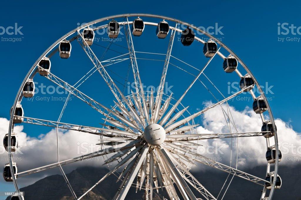White Ferris Wheel royalty-free stock photo