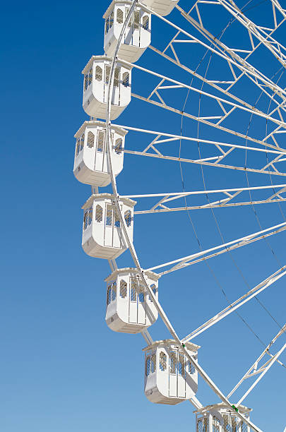 White Ferris Wheel stock photo
