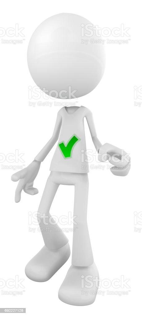 White Figure Check stock photo