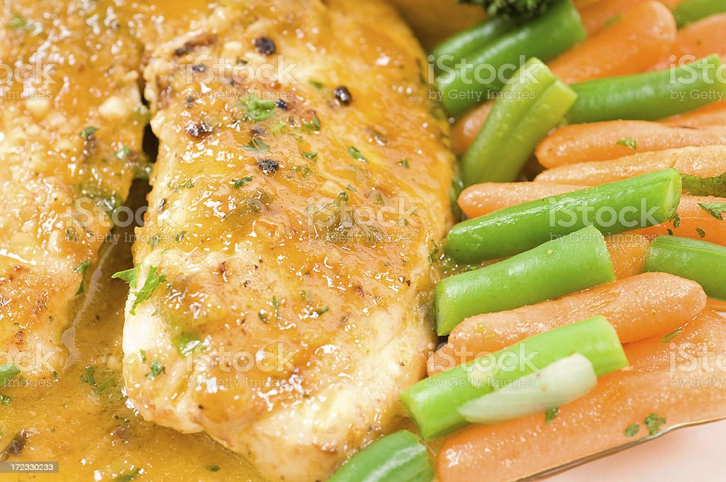 White fillet of fish and vegetables royalty-free stock photo