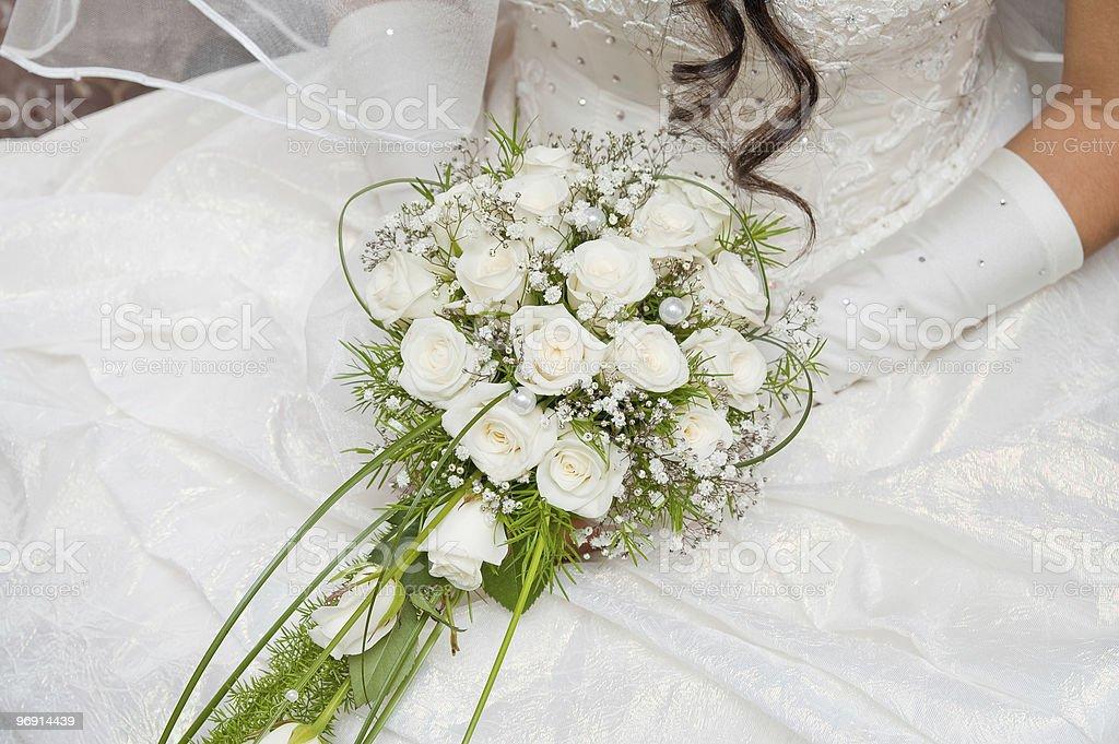 white fine rose royalty-free stock photo