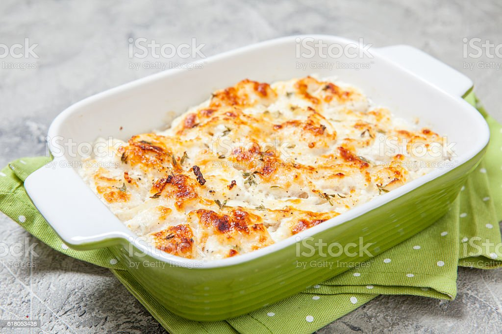 White fish casserole stock photo