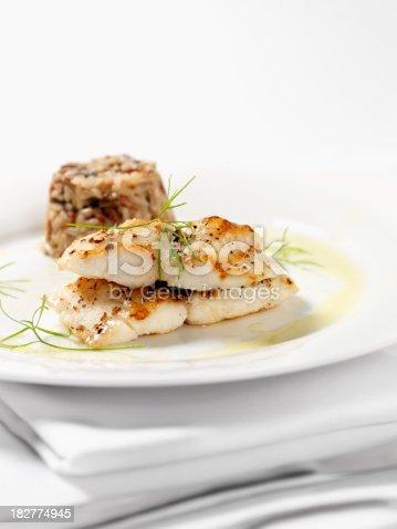istock White Fish with Wild Rice & Garlic Butter Sauce 182774945